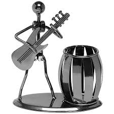 amazon com gun metal gray pencil u0026 pen holder display guitar