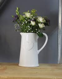 gisela graham white jug vase st leonard u0027s flowers