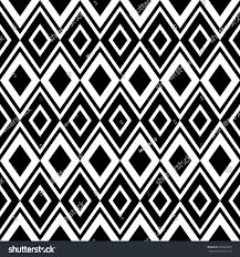 black white ornament abstract geometric seamless stock