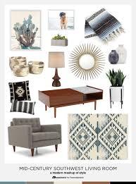 Southwest Living Room Furniture by Remodelaholic Southwestern Mid Century Style Mashup