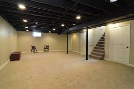 paint unfinished basement ceiling black tasty fireplace decor