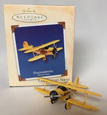 hallmark staggerwing ornament airplane 6th skys the limit series