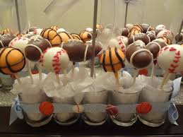 sports themed baby shower decorations cake pop centerpieces search cake pops creative
