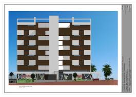 residential building frontal elevation by andrespinheiro on
