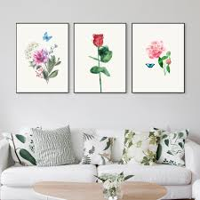 aliexpress com buy nordic style watercolor plant rose flower