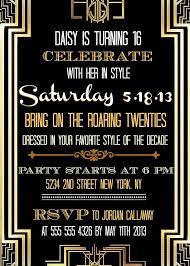 gatsby invitations great gatsby invitation template creative photos party invitations
