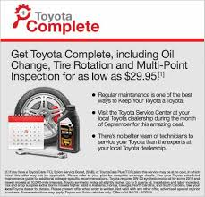 toyota dealership deals toyota complete at valdosta toyota oil change tire rotation