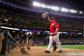 twins 8 rangers 4 bartolo colon just pitched a complete game at