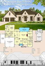 garage with living space plans plan 51764hz exclusive 4 bed french country home plan with