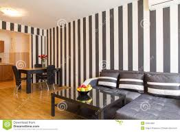 living room with black and white striped walls stock photo image black flooring living modern polished room striped walls white