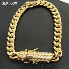 hand bracelet men images New bracelet hand chain for men 18k cuban gold fashion design 24k jpg