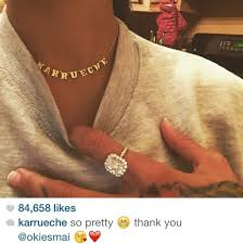 14k name necklace jewels necklace name necklace jewelry karrueche karrueche