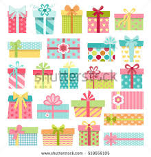 boxes with bows set colorful gift boxes bows stock vector 519559105