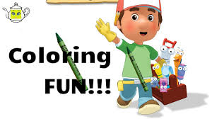 handy manny coloring pages kids learn colours fun