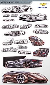 corvette trinity supercar concept sketch rendering by toyonda on