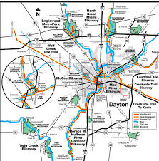 Ohio University Map by Dayton Ohio Bikeways Maplets