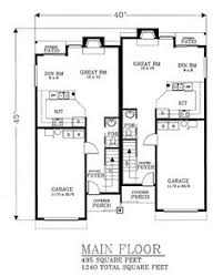 duplex plan chp 22527 at coolhouseplans com plans pinterest