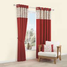 Faux Silk Embroidered Curtains Jessiy Leaves Embroidery Faux Silk Eyelet Lined