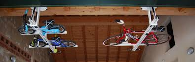 Bicycle Ceiling Hoist by Flat Bike Lift Or How To Park Your Bicycle On The Ceiling Video
