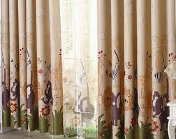 Jungle Curtains For Nursery Giraffe Curtains Etsy