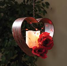 Heart Decorations Home Led Acrylic Heart Battery Operated Party String Lights 40 In Red