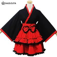 japanese girls kimono festival parade costume sweet maid uniforms