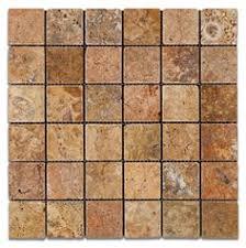 1 x 2 split face mosaic tile silver grey travertine honed wall