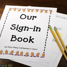 free printable sign in book for name writing practice
