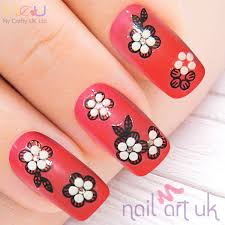 flower adhesive nail stickers nail art uk