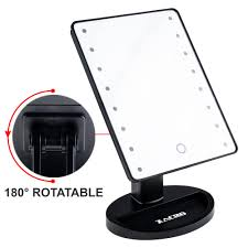 Magnifying Mirror With Light Zacro Led Illuminated Cosmetic Mirror U2013 16 Light Bulbs Table Top