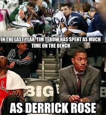 Tebowing Meme - tim tebow vs derrick rose daily snark