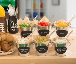 toppings bar game day baked potato bar tastefully simple