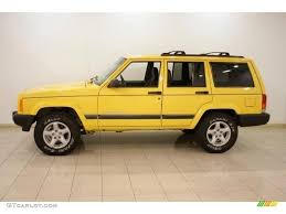 jeep cherokee yellow 2001 solar yellow jeep cherokee sport 4x4 16580112 photo 4