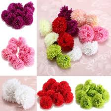 10pcs artificial daisy mum flower silk spherical heads bulk home