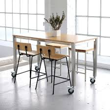 Kitchen Work Table by Kitchen Table Wheels Loading Zoom Gus Modern Niagara Rectangular