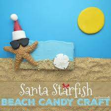 sugartown sweets santa starfish on the beach christmas in july