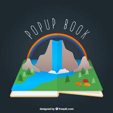 colorful pop up book vector free