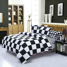 white king size duvet cover home textile black and white bedding