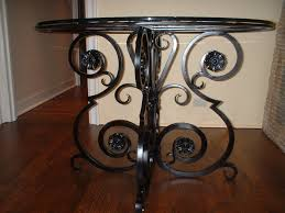 Iron Accent Table Stunning Wrought Iron Accent Table Metal Fabricated Table Bases