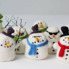 best needle felting snowman products on wanelo