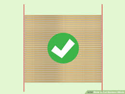Blind Cutting Service How To Cut Bamboo Blinds 5 Steps With Pictures Wikihow