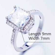 wedding ring brand yunkingdom new square design white gold plated filled ring cubic