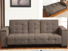 vente unique canapé canapé clic clac 3 places tissu chocolat ou gris devonshire