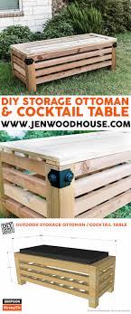 Ottoman Plans Diy Outdoor Storage Ottoman