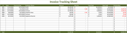 Excel Sales Tracking Template Invoice Tracking Template Excel Invoice Exle