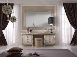the beautiful of mirrored vanity table design inside elegant dress
