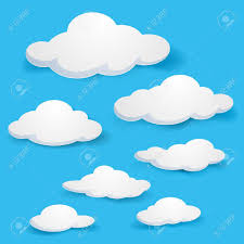 clouds illustration on blue background for design royalty