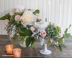 How To Make A Flower Centerpiece Arrangements by Dyi Crepe Paper And Fresh Flower Centerpieces