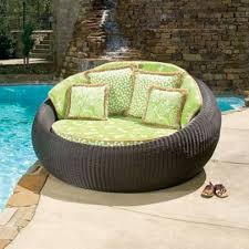 Lounge Patio Chair Outdoor Furniture Chaise Lounge Without Cushion Resin Wicker
