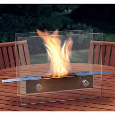 Patio Table Top The Portable Tabletop Fireplace Hammacher Schlemmer